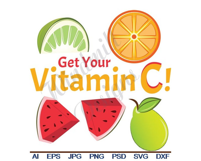 Get your vitamin svg. C clipart vector