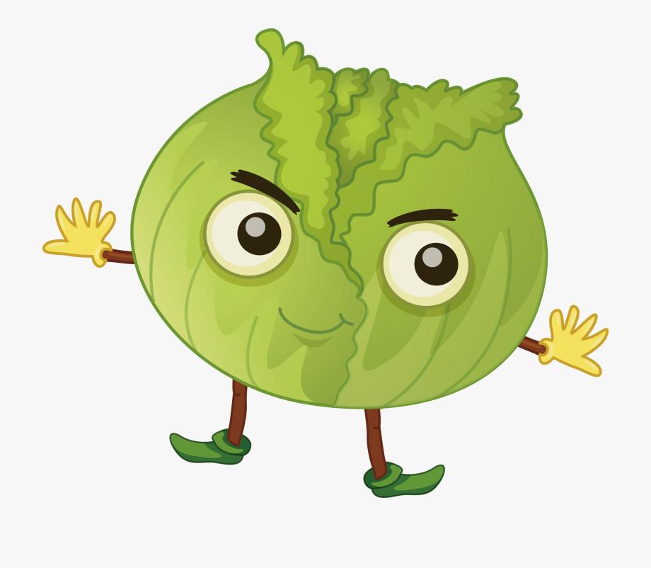 Cabbage clipart animated. Fruit clip art cartoon