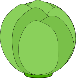 Cabbage clipart cartoon. Clip art at clker