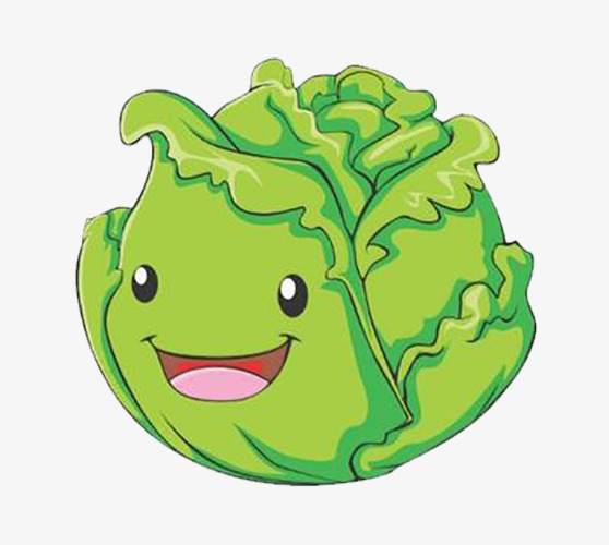 Anthropomorphic personification png image. Cabbage clipart cartoon