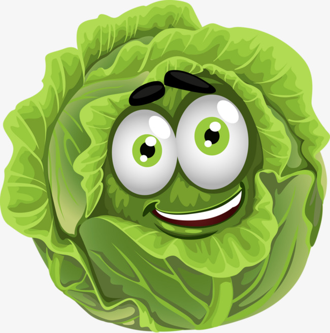 Cabbage clipart cartoon. Good looking color png
