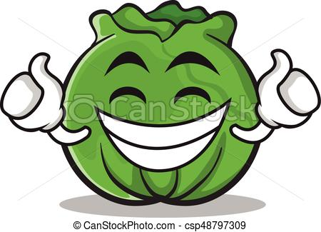 Cartoon . Cabbage clipart cute