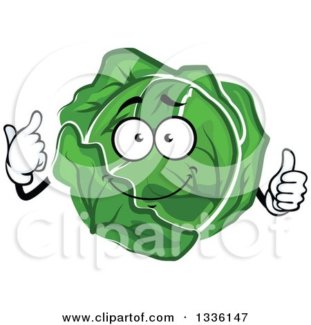 Cabbage clipart cute. Cartoon head lettuce pencil
