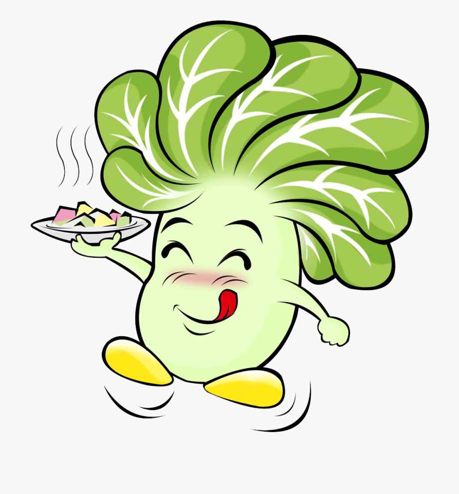 Cabbage clipart cute. Cartoon vegetable