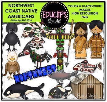 Northwest coast native americans. Cabbage clipart educlips