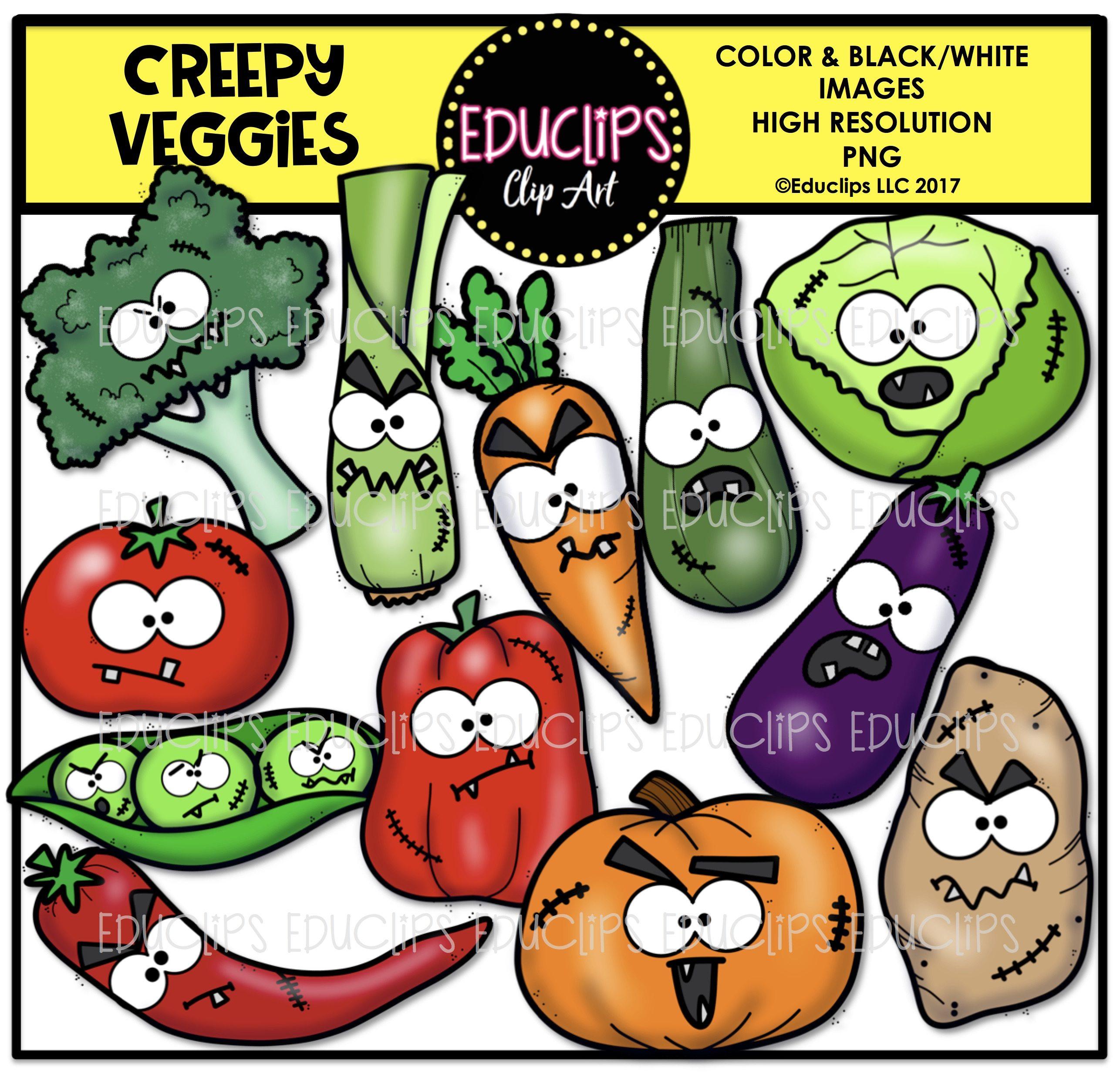 Cabbage clipart educlips. Creepy veggies clip art
