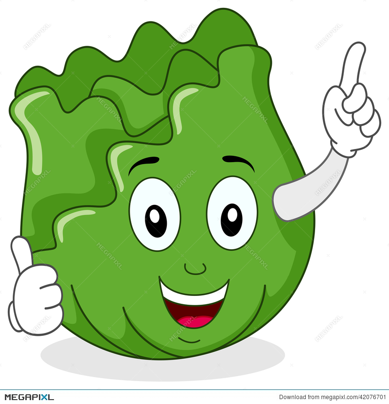 Cabbage clipart face. Cute character with thumbs