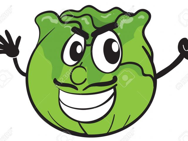 X free clip art. Cabbage clipart face