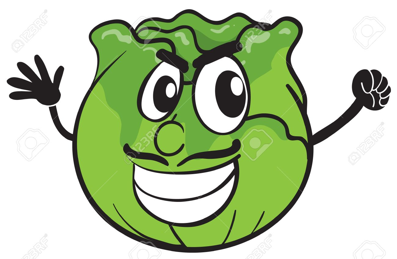 Cabbage clipart face. Cartoon pencil and in