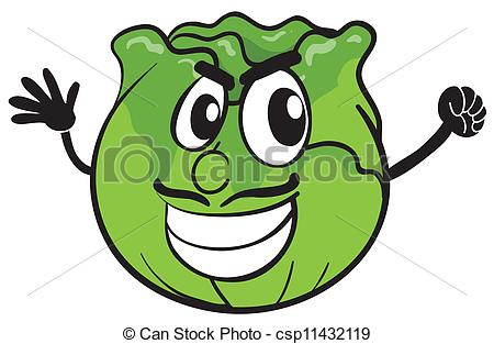 Cabbage clipart illustration. Of a on panda