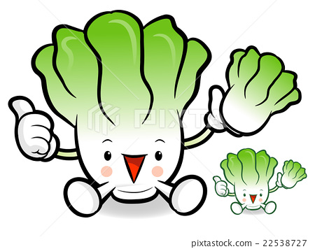 Mascot to promote vegetable. Cabbage clipart napa cabbage