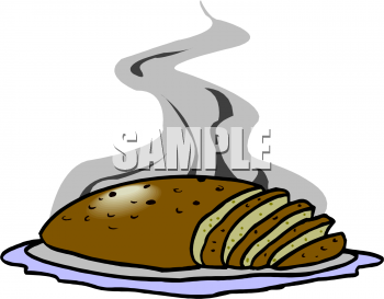 Cabbage clipart turkey slice. Meatloaf sliced on a