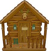 Clip art royalty free. Cabin clipart