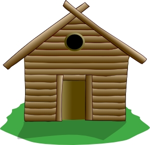 Cabin clipart. Log clip art at