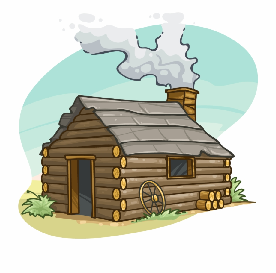 Cabin clipart. Png log transparent free