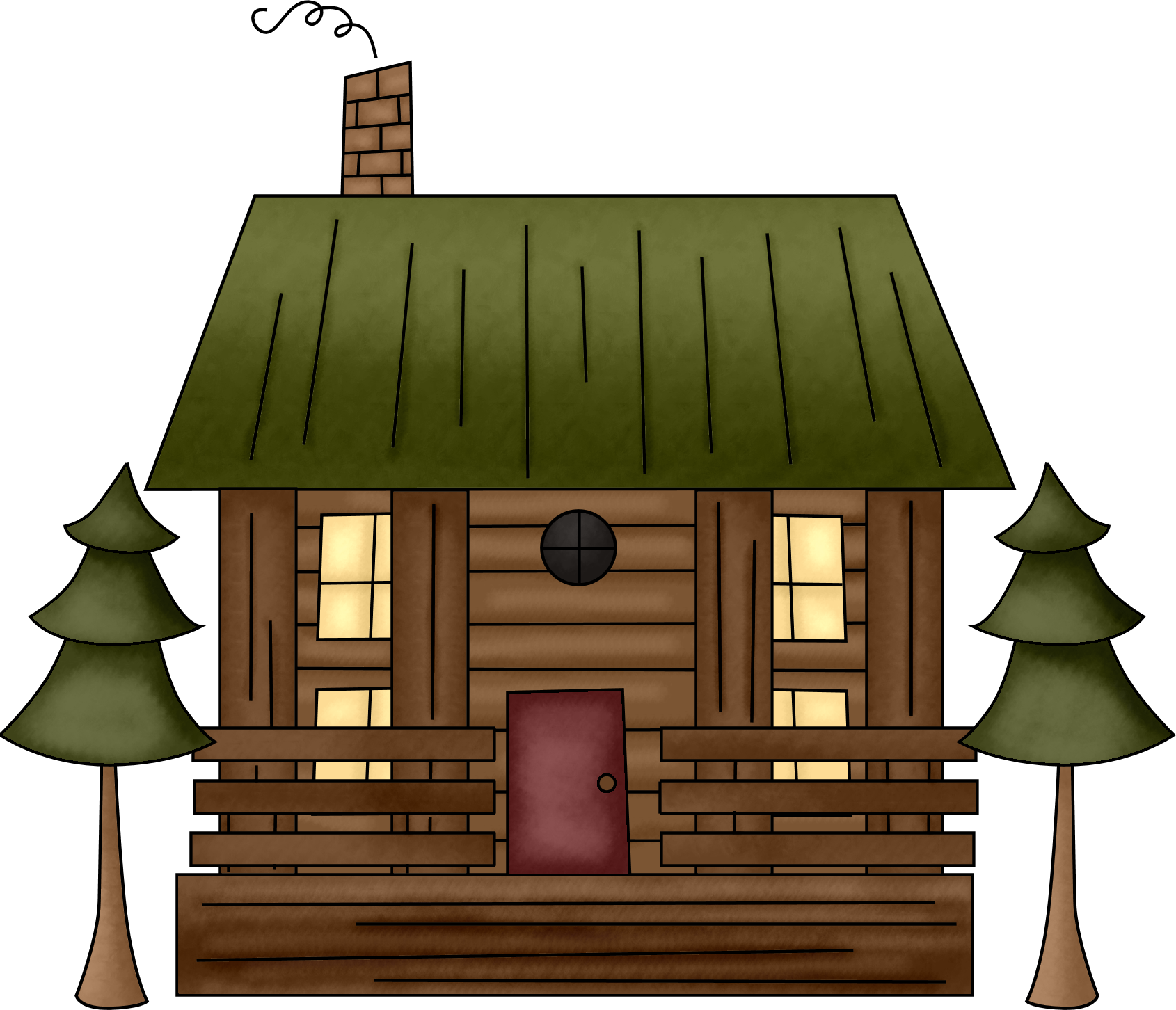 Cabin clipart animated. Cottage pencil and in