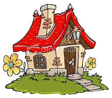 Cottage clipart fairytale cottage. Cartoon draw in art