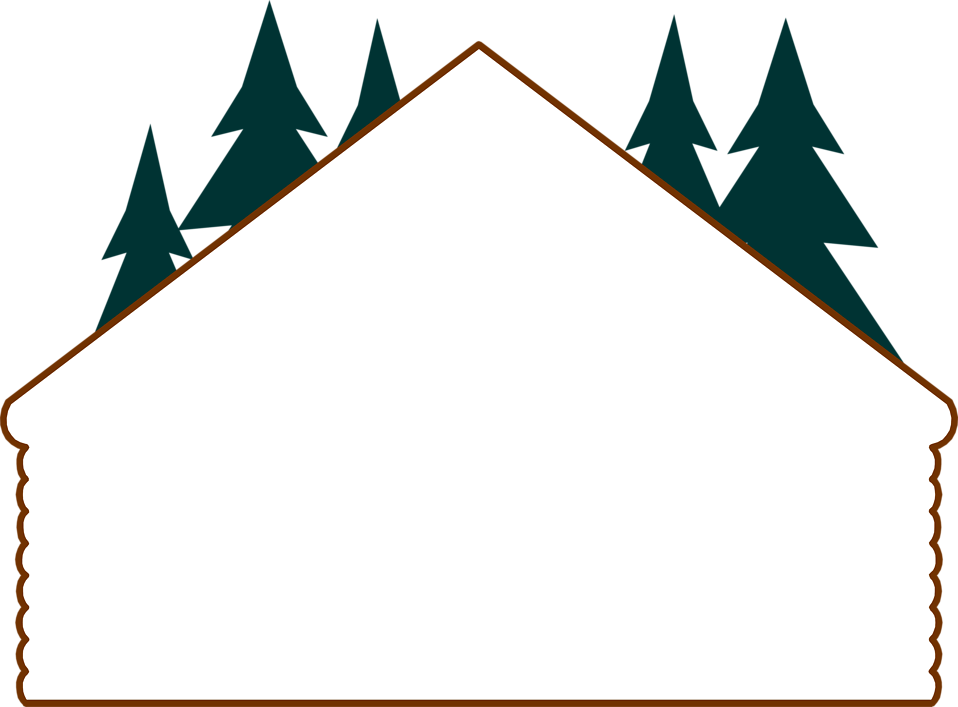 Winter clipart log cabin. Border pencil and in
