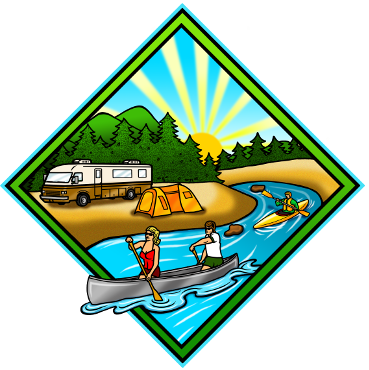 Eastern slope area cozy. Camping clipart campground