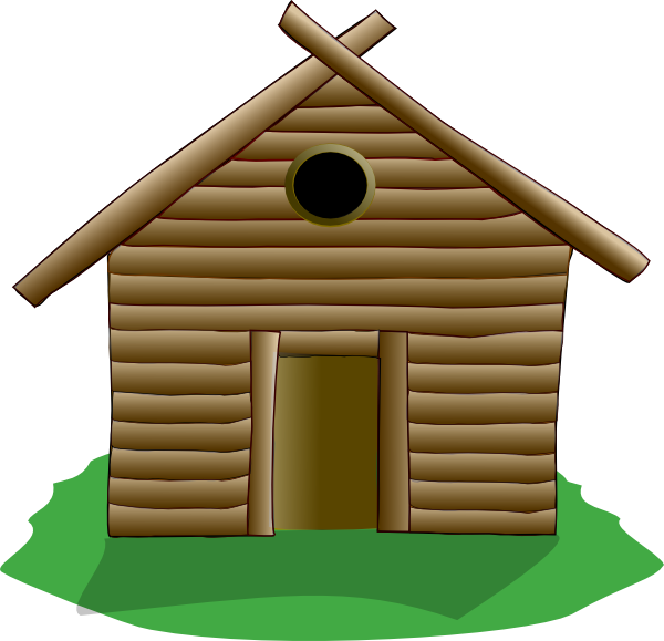 Cabin clip art at. Cottage clipart hause