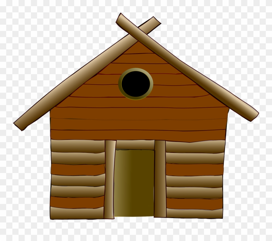 Cottage clipart woods clipart. Log cabin house wood