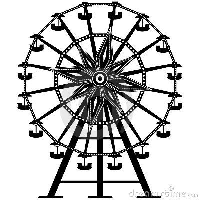 Janwbrouwers ferris wheel. Carnival clipart drawing