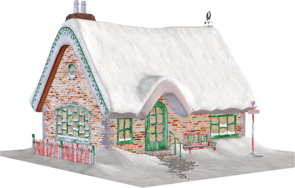 Free snowy cottage cliparts. Cabin clipart hut