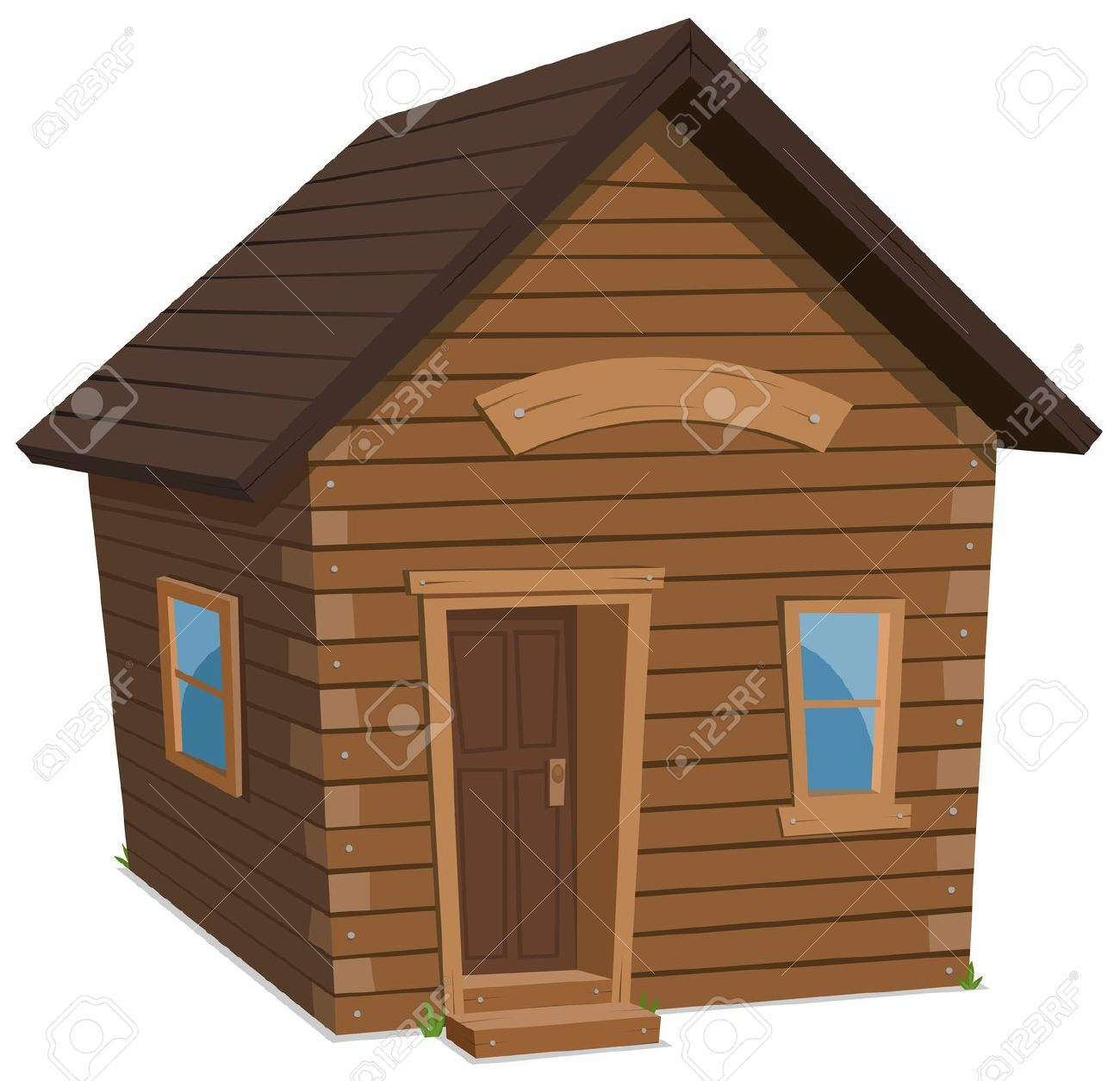 Cabin clipart hut. Shack simple pencil and