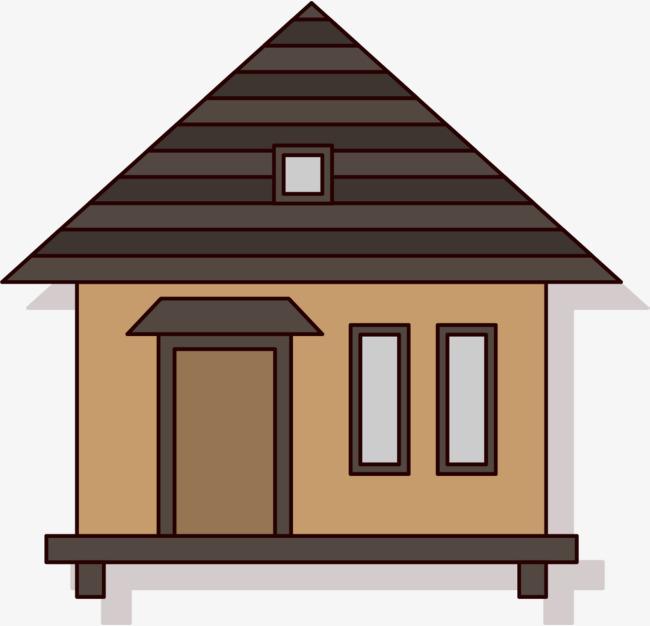 Cartoon villa house architecture. Cabin clipart hut