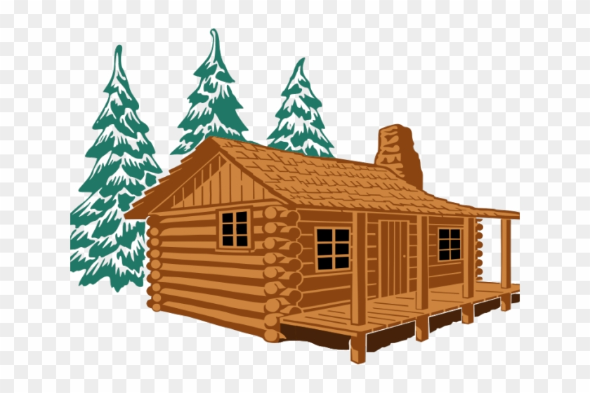 Cabin clipart hut. Lodge wooden log drawing