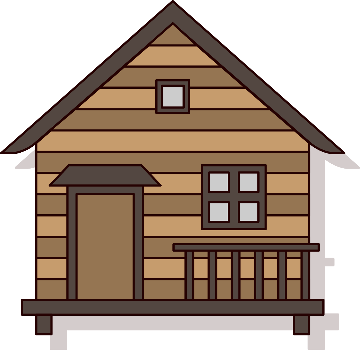 Download log house forest. Cabin clipart hut