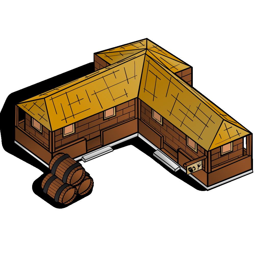Cabin clipart inn. Onlinelabels clip art rpg