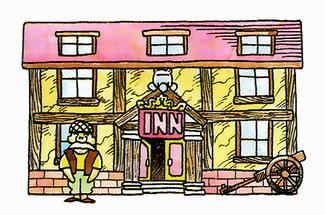 Dragon quest wiki an. Cabin clipart inn