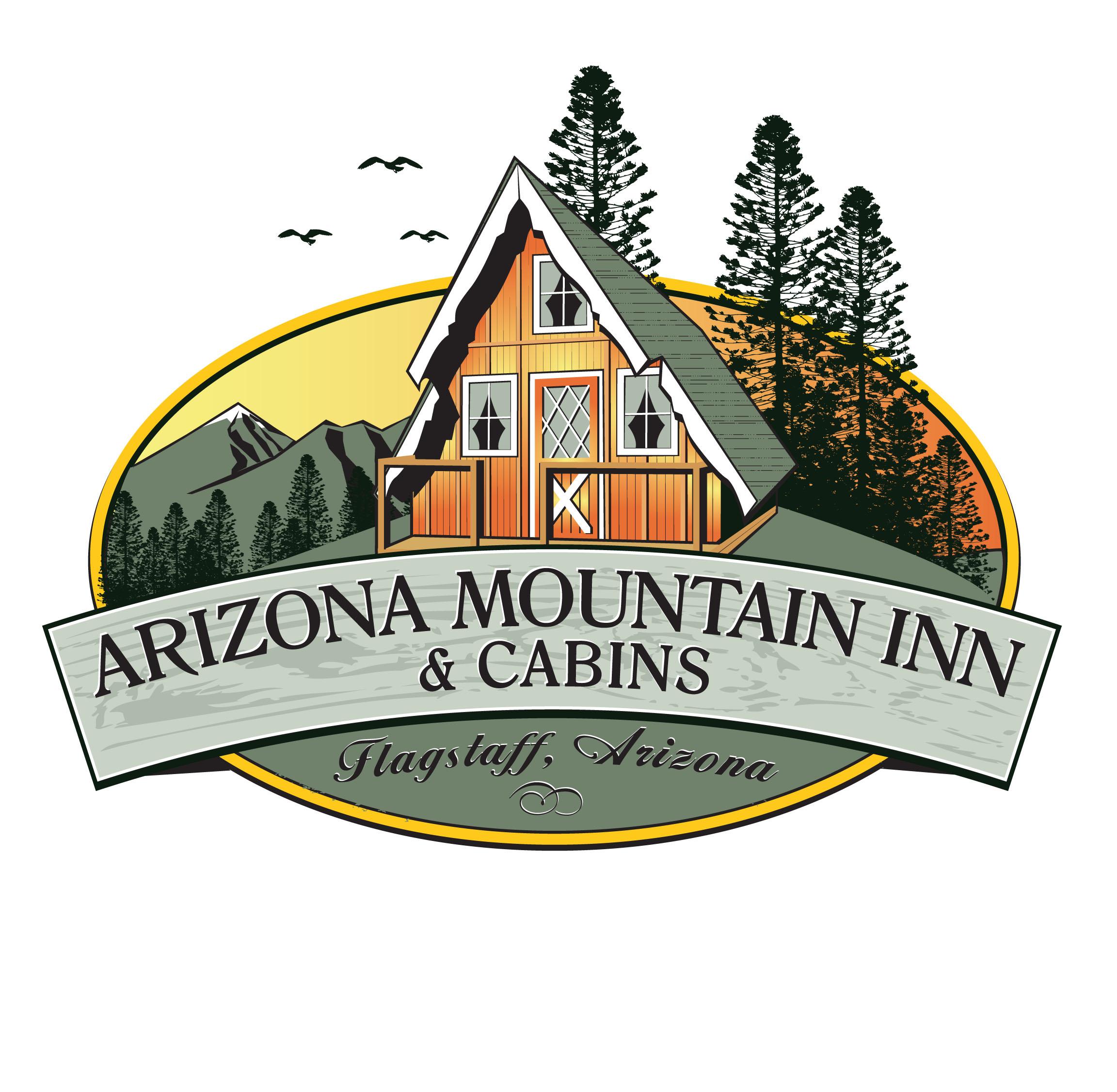 Cabin clipart inn. Picturesque rental arizona mountain