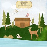 Best ideas about clip. Cabin clipart lake cabin