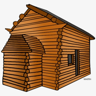 Lodge cabin home builders. Pioneer clipart wood house
