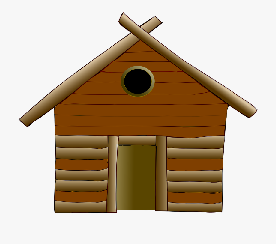 Cabin clipart log home. Cottage house wood wooden