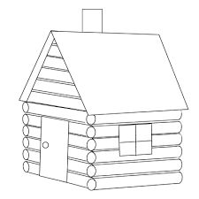 Cabin clipart log home. Lincoln house embroidery patterns