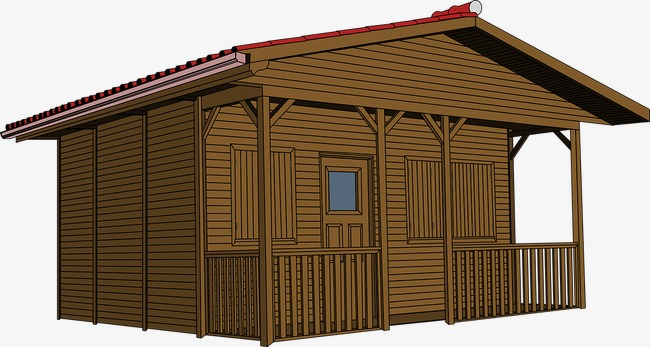 A chalet fence wood. Cabin clipart log house
