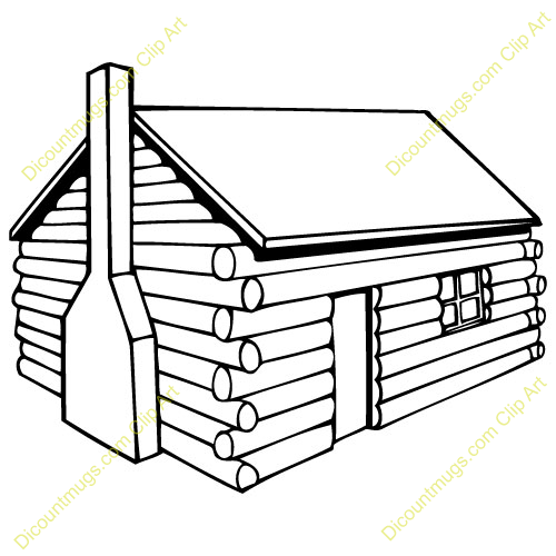 Clip art happy day. Cabin clipart log house