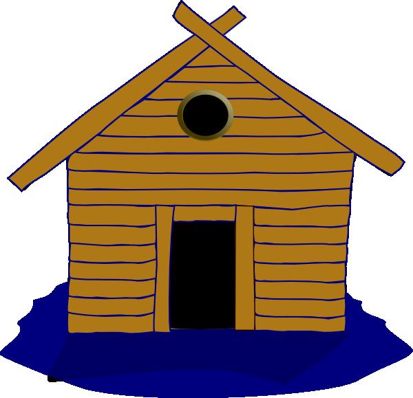 Log and seasonal clip. Home clipart animated
