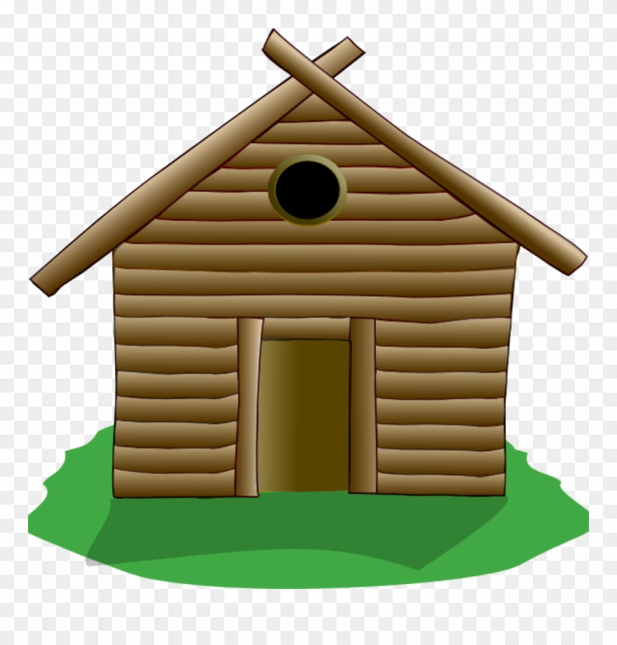 Clip art at clker. Cabin clipart log house