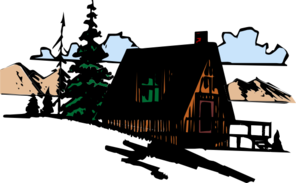 Wooden in the mountains. Cabin clipart mountain cabin