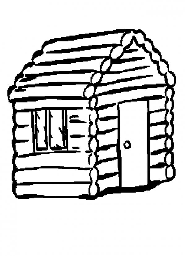 Cabin clipart outline. Pictures drawings art gallery