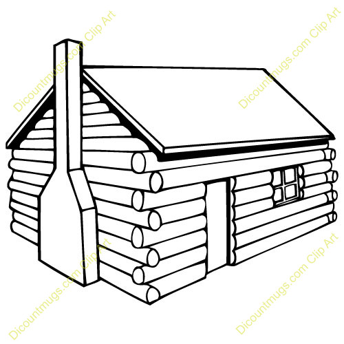 Cabin clipart pilgrim house. Coloring page fjushis info