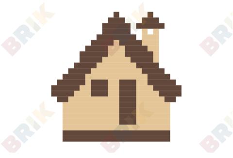 Cabin clipart pixel art. Log day brik