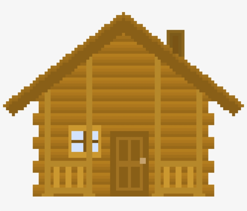 Cabin clipart pixel art. Log free transparent png