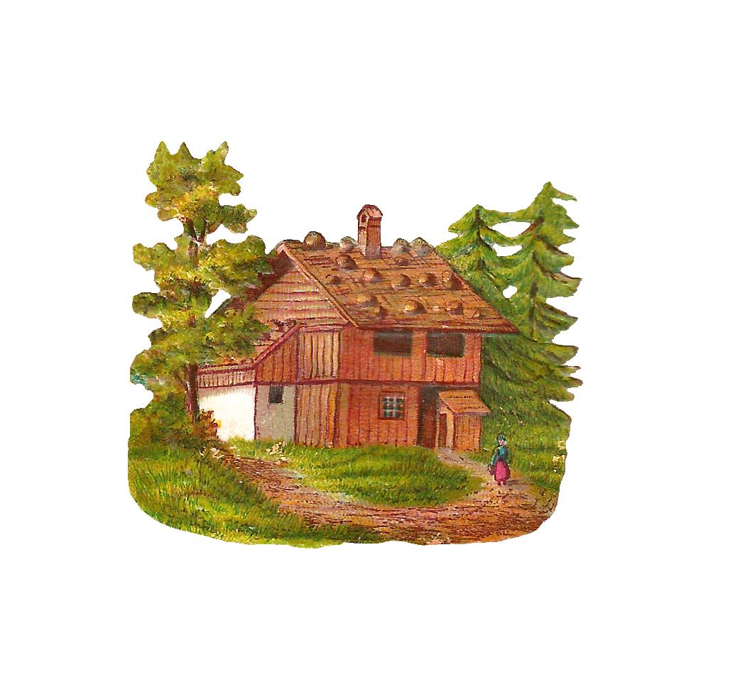 Free png log cabin. Lake clipart vintage