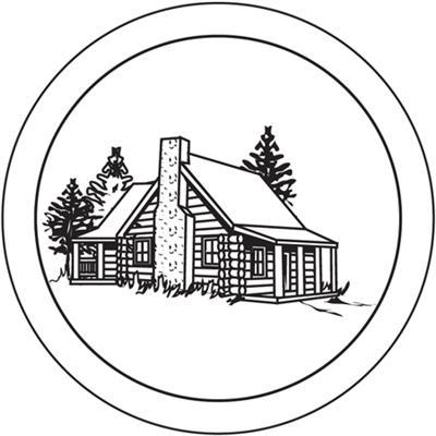 Log drawing at getdrawings. Cabin clipart rustic cabin