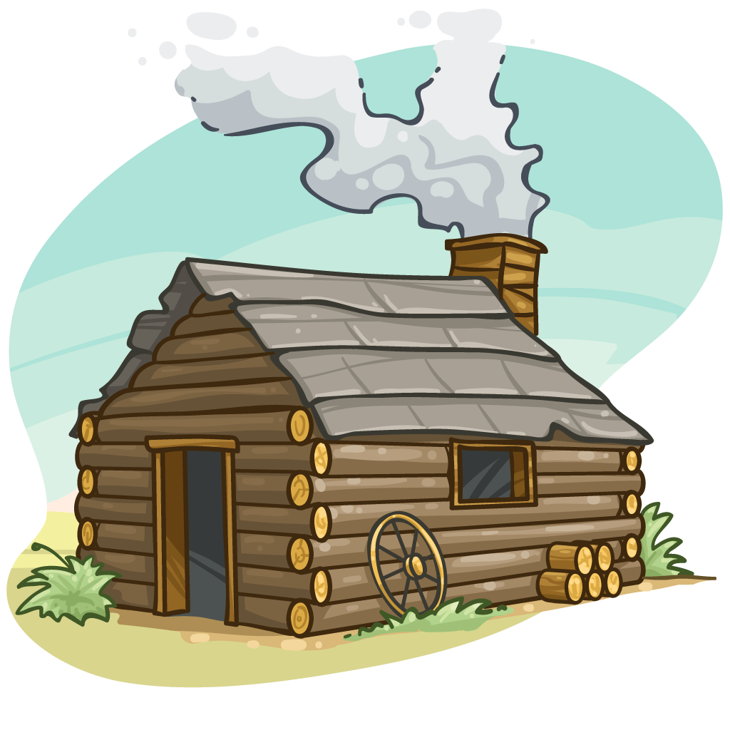 Png log transparent images. Wagon clipart cabin